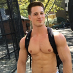 HOT MUSCLE MODEL NICK SANDELL STOPS TRAFFIC IN CITY WITH HIS UNDERWEAR WALK