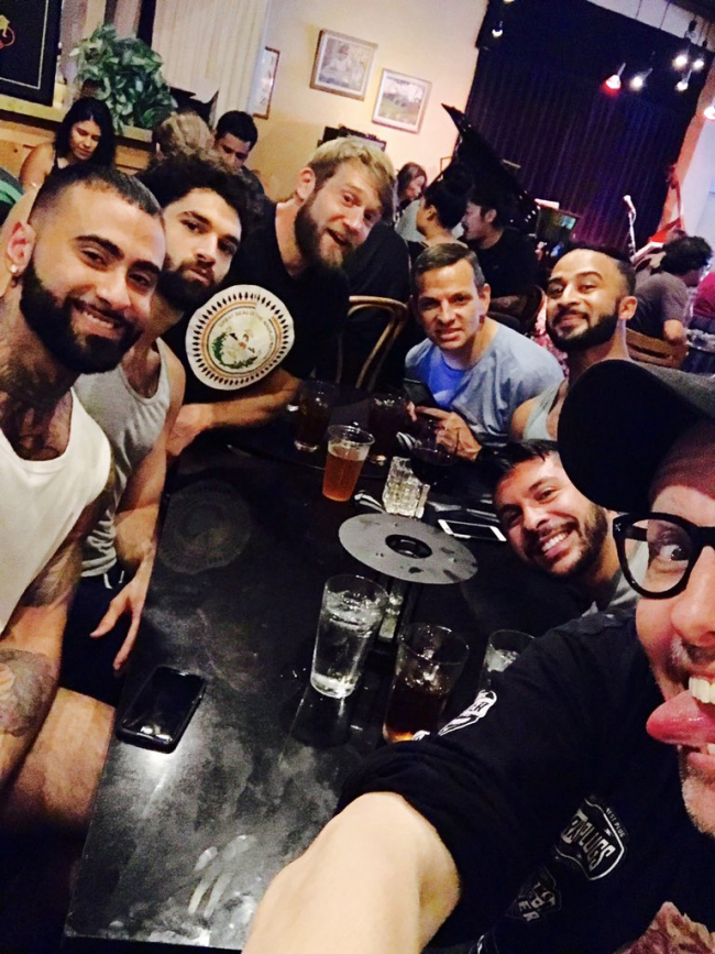 CHI CHI LARUE HOSTS A RAGING ROOM OF MEAT EATERS FOR DINNER