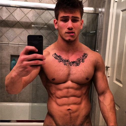 NEW NAKED MUSCLED TEEN HUNK MIKE HOFFMAN GIFS MAYBE A HOLIDAY MIRACLE? ALL HARD AND READY