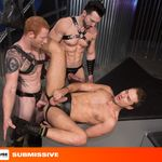 HOT HOUSE PUTS THREE OF GAY PORN'S BIGGEST DICKS IN A 'SUBMISSIVE' STRAPPED-FORCE-SLAM