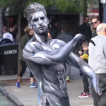 MUSCLED UP SILVER SURFER COSTUMED JESSE WELLENS IS BLOWING UP THE INTERNET & WE HAVE HIM OUT OF MAKEUP AND SHIRTLESS