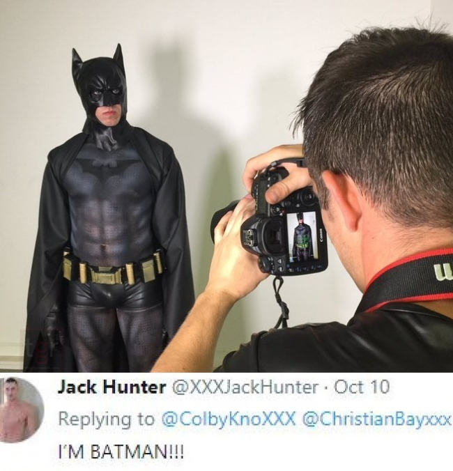 [EXCLUSIVE] JACK HUNTER IS BATMAN IN A NEW GAY PORN PARODY FROM COLBYKNOX STUDIOS (BTS PHOTOS-BOYS CARVING PUMPKINS)