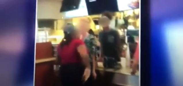 [WATCH] A VIDEO OF A MCDONALD'S EMPLOYEE SMACKING A CUSTOMER HAS GONE VIRAL