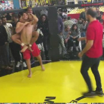 Italian Fighters Accidentally Exposes Opponent's Sausage In Fight