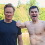 CONAN O'BRIEN HITS GERMAN NUDE BEACH W/ DJ FLULA- FLULA ASKS CONAN HAVE YOU SEEN A MAN'S ANUS BEFORE?