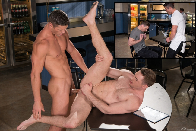 RYAN ROSE SQUIRTS ALL OVER FANE ROBERTS IN A NEW SCENE FROM FALCON'S BLOCKBUSTER MOVIE 'ROUTE 69'
