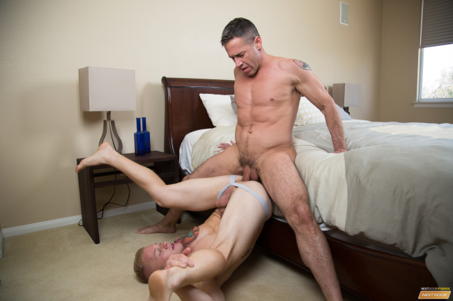 NEWBIE LEO LUCKETT GETS FUCKED BY  GAY PORN LEGEND DEAN PHOENIX AND IT'S BIG FUN [BAREBACK]