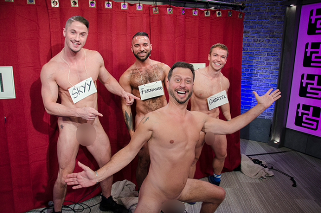 COCKTOBER 2017: GAY PORN SUPERSTARS SKYY KNOX AND GABRIEL CROSS FEATURED IN A COCK LINE-UP ON HOWARD STERN
