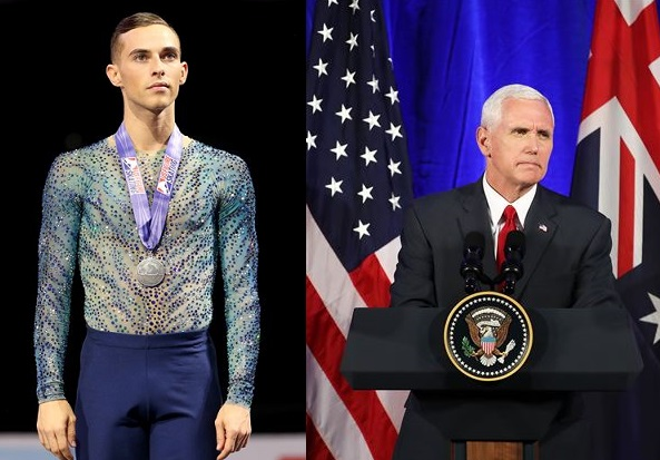 GAY OLYMPIAN ADAM RIPPON 'RIPS' VICE PRESIDENT PENCE AN NEW ONE
