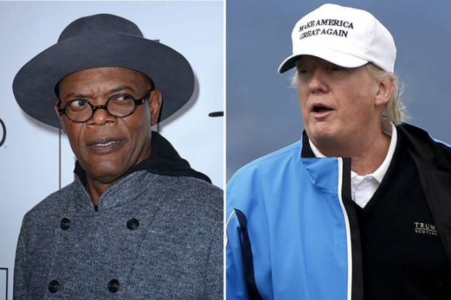 SAMUEL L. JACKSON ACCUSED OF USING A 'HOMOPHOBIC' SLUR ON TWITTER BY OFFERING TRUMP 'AFTER DICK MINTS