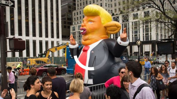 WATCH: A GIANT INFLATABLE 'TRUMP RAT' HAS INVADED MANHATTAN
