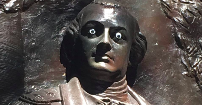 What Are You Looking At? Georgia City Says It's 'No Laughing Matter' That Someone Put Googly Eyes On A Statue