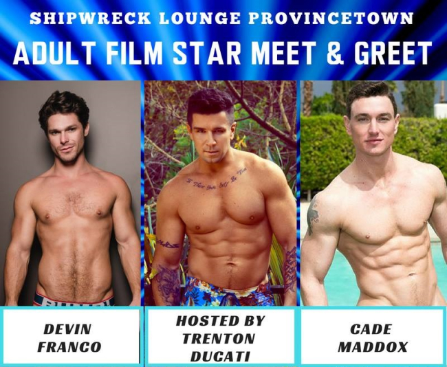 PHOTO: SHIPWRECK LOUNGE HOSTS GAY PORN STARS TRENTON DUCATI, CADE MADDOX, DEVIN FRANCO, DANNY GUNN AND A BOBBY CLARK CAMEO