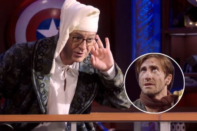 WATCH: Stephen Colbert's Penis Gives Jake Gyllenhaal A Midterm Election Fright