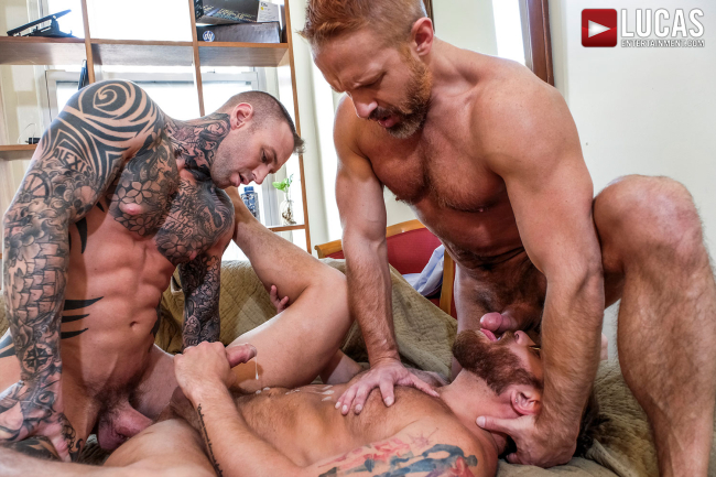 Long Hard Hours With Derek James, Dirk Caber And Riley Mitchel